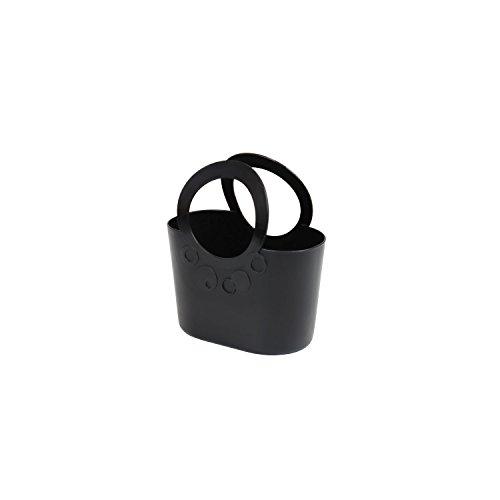 Borsa spiaggia cestino flessibile multiuso Lily 16 x 9,5 x 19,5 cm colore: nero