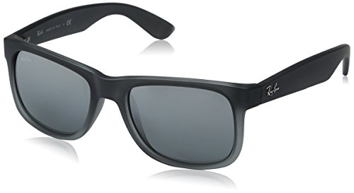 Rayban-Sunglasses-Justin-4165-85288-Rubber-Grey-Silver-Mirror-Gradient-51mm