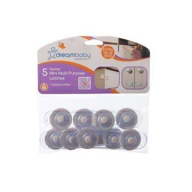 Dream Baby Mini-Multi Purpose Latch, White - 10 Pack by Dreambaby