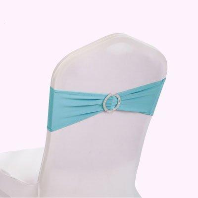 gfccスパンデックス伸縮性椅子サッシwithバックルスライダサッシ弓、ウェディング宴会パーティー椅子バンド60pcs、ブラック) 13cmx35cm 0714 spandex chair sashes 50 ティファニーブルー(Tiffany Blue) B073XKD7J4