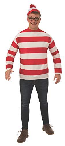 Rubie's Unisex-Adult's Where's Waldo Plus Costume, as Shown, One ()