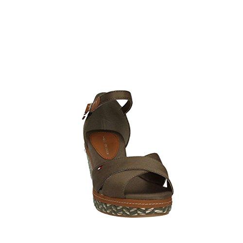 Tommy Hilfiger E1285LBA 31D kaki, sandalia de mujer Dusty Olive