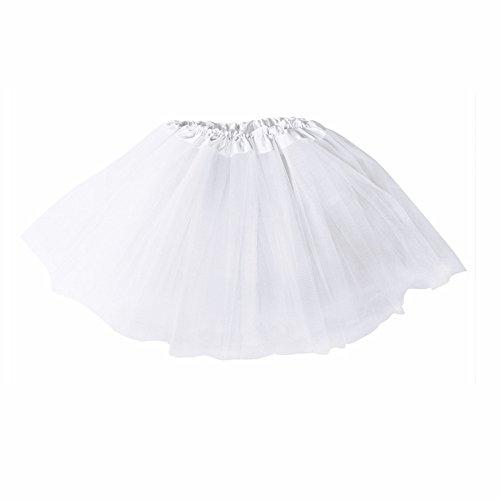 Women's Classic 3-layered Tulle Tutu Ballet Skirts Ruffle Pettiskirt for Customes Cosplay Dress -