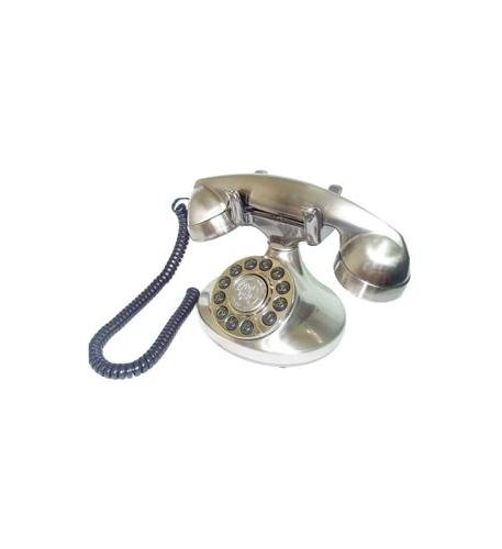 Paramount ALEXIS-SV Alexis1922 Decorator Phone SILVER (PMT-ALEXIS-SV) (Barn Number Phone Pottery)