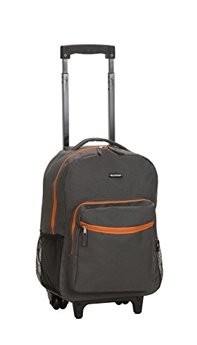 Rockland Luggage 17 Inch Rolling Backpack, Charcoal, One Size -