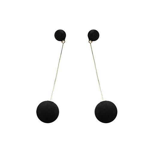 (XBKPLO Earrings for Women's Dangling Tassel Wild Sweet Simple Long Double-Faced Plush Ball Earrings Alloy Lady Fine Fashion Trend Jewelry)