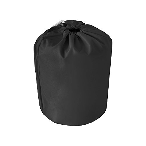 MSC Heavy Duty 600D Marine Grade Polyester Canvas Trailerable Waterproof Boat Cover,Fits V-Hull,Tri-Hull, Runabout Boat Cover (Black, Model D - Length:17'-19' Beam Width: up to 96'') by MSC (Image #4)