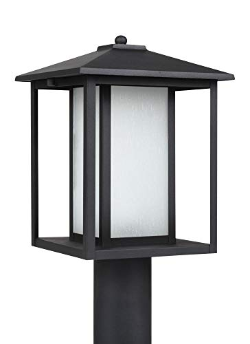 (Sea Gull Lighting 89129-12 Hunnington One Light Outdoor Post Lantern, Black)