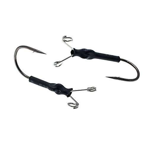(Elitelure Frog Trailer Hook Weedless Frog Fishing Dota Hook 4/0 2pcs/Bag )