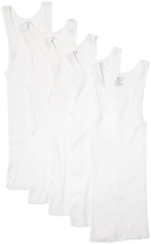 Fruit of the Loom Men's A Shirts(Pack of 5) (White, 3X-Large) (Fruit Top The Tank Loom Of 3x)