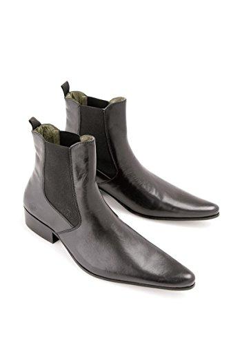 Ikon 3776 Revolver Mens Black Leather Chelsea Boots 60'S Rock rWUPF