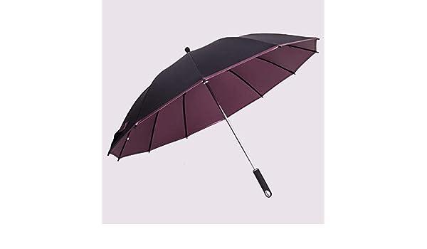 PZXY Paraguas Plegable Creativa Hueso Doble Barra Recta de Paraguas de la Lluvia de Colores Pegamento Negocio Super Resistente al Viento: Amazon.es: Jardín