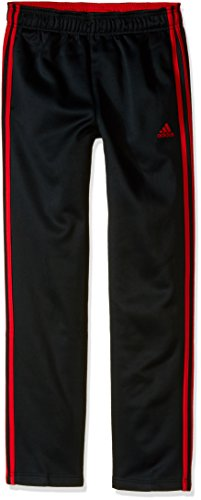 adidas Big Boys' Tech Fleece Pant, Black/Light Scarlet, Medium/10-12