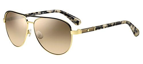 Kate Spade Women's Emilyann/s Aviator Sunglasses, GOLD BEIGE HAVANA/BROWN MIRROR GRADIENT, 59 - Beige Sunglasses Havana