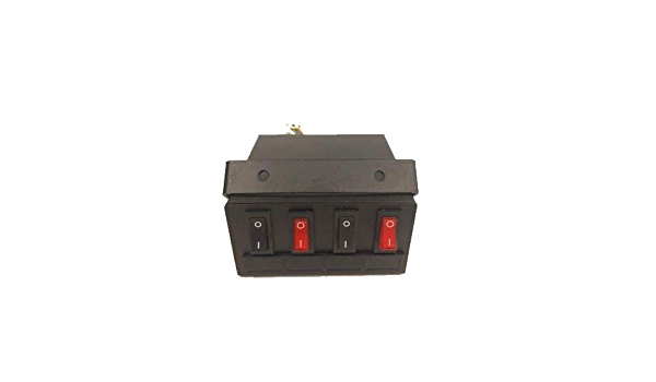 Superior LED Light 6 Gang Switch Box Control Unit Fuse Protection Caution Emergency Light