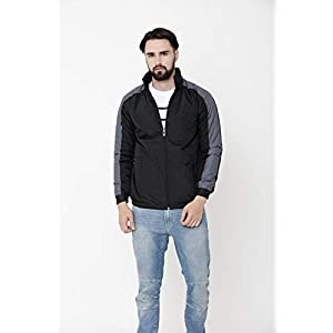 Walk Alone Poly Cotton Full Sleeve Bomber Jacketwith Hood for Men