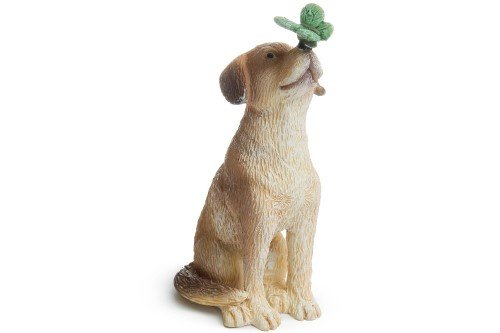Miniature Fairy Garden Dog With Butterfly