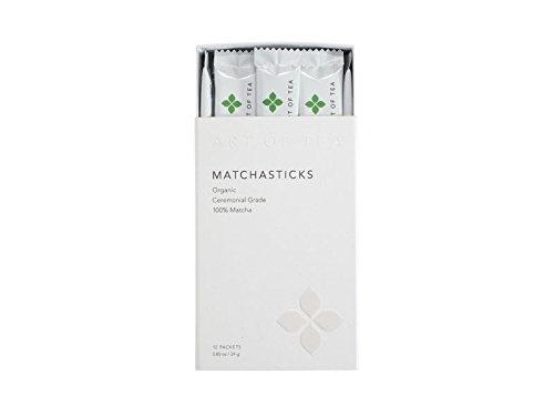 Matcha Powder Organic Japanese Ceremonial matchasticks - Art of Tea -12 count single serve packets.