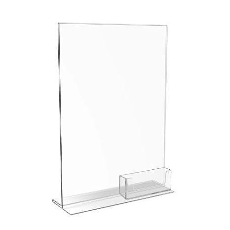 Soporte de menú y dispensador de tarjetas de presentación Displaypro, de acrílico, tamaño A4: Amazon.es: Oficina y papelería