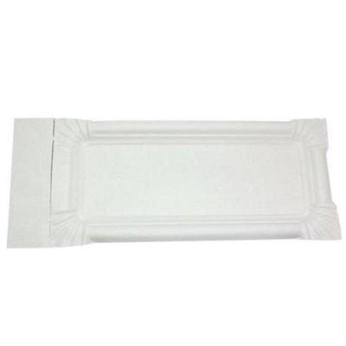 Gastro-Bedarf-Gutheil 1000 Stü ck Pappteller 8 x 18 + 3 cm Abriss Wurstpappe Pappschale Teller