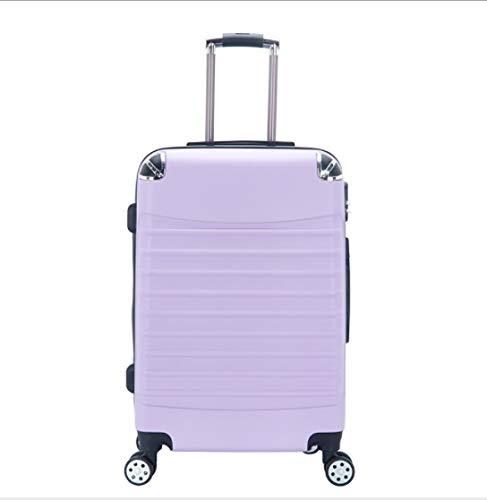 トロリーギフトスーツケース男性と女性のパスワードユニバーサルホイールスーツケース24インチ (Color : Purple)  Purple B07QGV9XGY