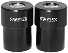 Pair SZ08013411 BoliOptics SWF 15X Super Widefield Microscope Eyepieces Field of View 17mm Mounting Size 30mm