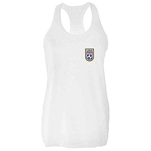 (USA Soccer Retro National Team Jersey White L Womens Tank Top)
