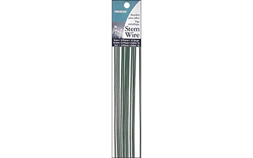 Panacea 561618 Floral Wire Painted STEM Green 16 Gauge 18 INCHES 12 Pieces, (Painted Stem)