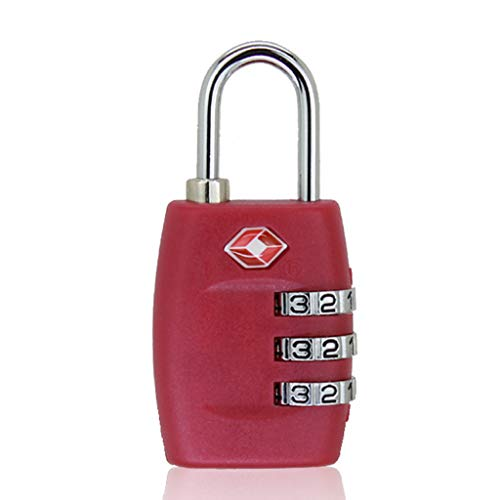 (QUICATCH TSA Approved Luggage Lock Travel 3 Digit Combination Suitcase Padlock Reset Alloy Steel Re-settable to 1,000 Possibilities (Hot Pink))