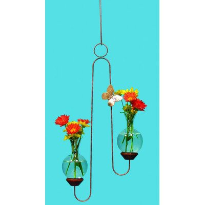 The Brass Butterfly Double Hanger Planters (Butterfly Copper Hangers)
