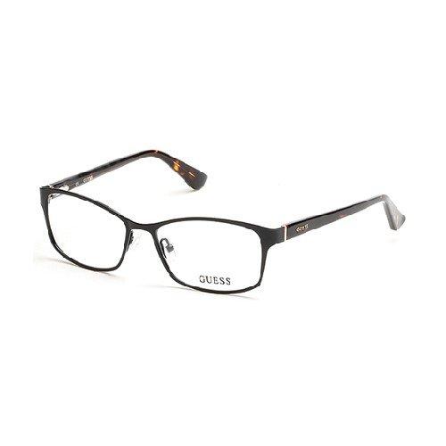 Guess GU 2521 002 Matte Black Metal Cat-Eye Eyeglasses 53mm