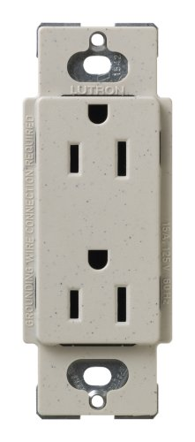 - Lutron SCR-15-ST Satin Colors 15A Electrical Socket Duplex Receptacle, Stone