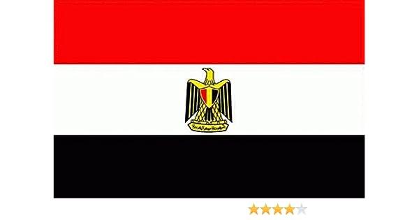 Gran Bandera de Egipto 150 x 90 cm Satén Durobol Flag: Amazon.es: Deportes y aire libre