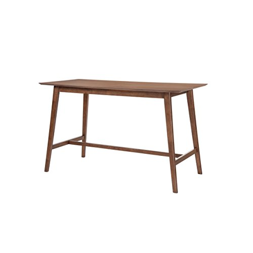 Collection Gathering Height Table - Emerald Home Furnishings D550-14 Simplicity Gathering Height Dining Table, Standard, Walnut Brown