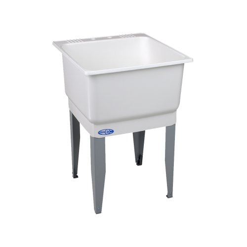 Freestanding Polypropylene Laundry Utility Sink With Drain