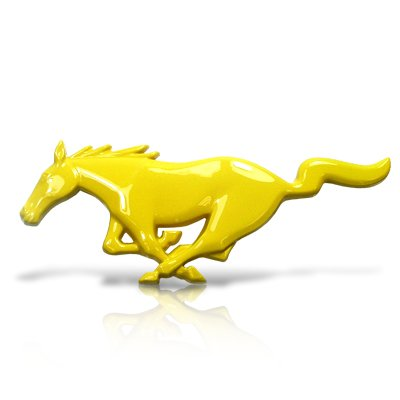Ford Mustang 1994 To 2004 Front Grille Emblem Yellow Running Horse