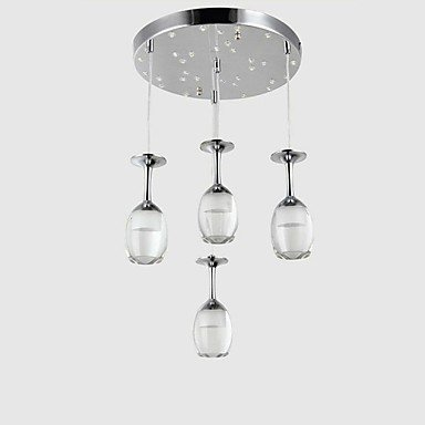 quan New Wine Cup Design 4 Lights Acrylic Led Pendant Light