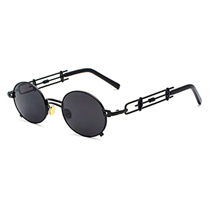 Show Occhiali With Steampunk Red Sun Sunglasses occhiali For Round retro In Gold Vintage Male Black Silver Sole Metal New Glasses Da Photo As Oval Men Women Blue Gift Frame