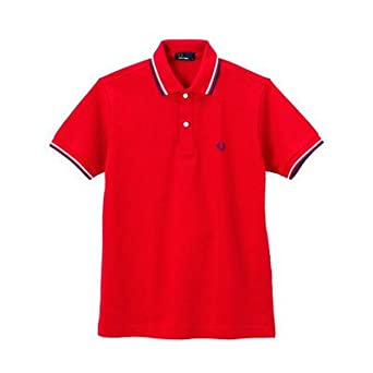 amazon フレッドペリー f1102 メンズ the fred perry shirt red bule