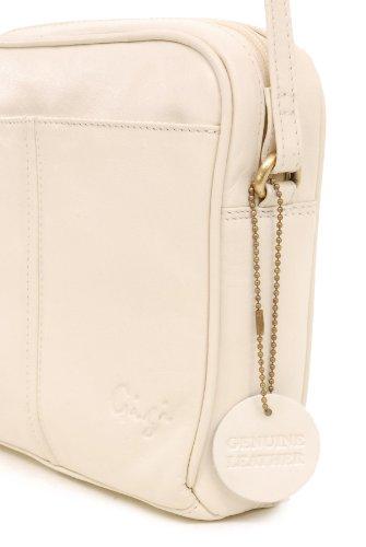 GIGI - OTH22-29 - Bolso bandolera / Bolso de hombro - Cuero - Pequeño Cream (Blanco roto)
