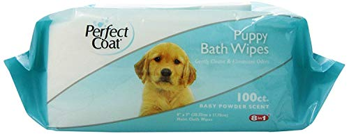Perfect Coat Bath Wipes for Puppy, 100-Count by Perfect Coat