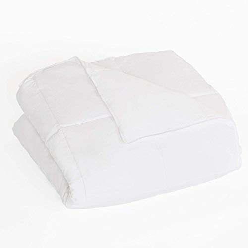 DOWNLITE Clearance Sale - 300 TC Hypoallergenic Luxury Down Alternative White Comforter - Medium Warmth - Oversized King 107