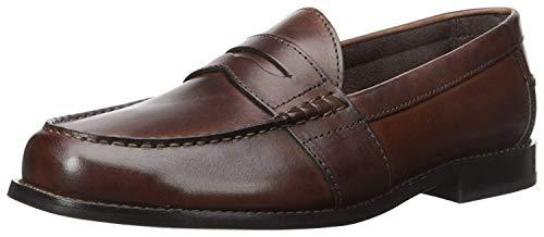 Nunn Bush Men Noah Penny Loafer Dress Casual Slip On Shoe, Brown, 10