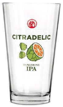 New Belgium Brewery Citradelic Pint Glass (Brewery Beer Glasses)