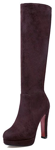 Brown Biker Boots For Women - 8