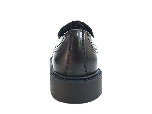 Made CUOIERIA Italy Inglese Uomo ANTICA Scarpa Nero 20245 Allacciata Stile in Pelle dP0q6z