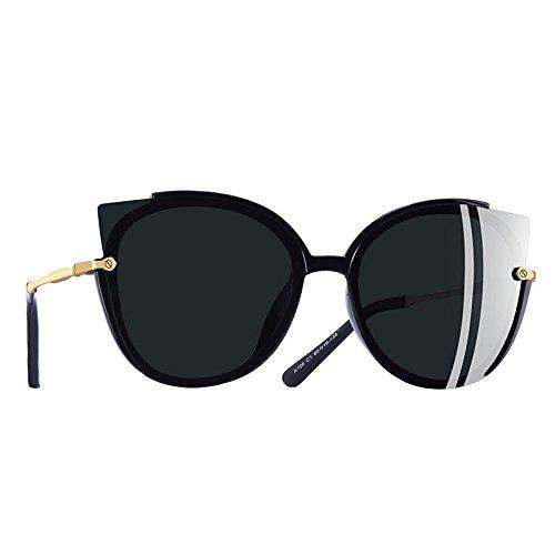 C1gris sol Mujer de Dama de C1Gray Gafas único Moda TIANLIANG04 de Fotograma polarizadas gato UV400 gafas ojo sol 6qxaavYw