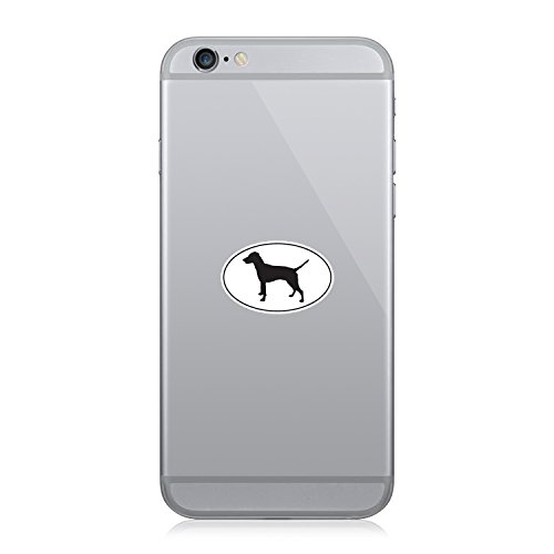 Pinscher Decal - RDW German Pinscher Euro Oval - Cell Phone Sticker - Decal - Die Cut