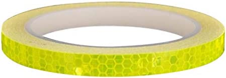 LEVEL GREAT Reflektierende Aufkleber Rim Luminous Warnband Motorrad Bike Rahmen Rad Adhesive Reflektor-Streifen, Gelb