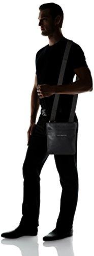 Tommy Hilfiger Herren Smooth Leather Mini Flat Crossover Tasche, Schwarz (Black), 5x25.4x23 cm